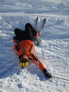fallen-skier