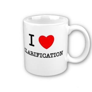 Clarification mug